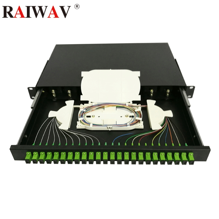 12-24 Core SC/FC/ST/LC Rack Mount Type Fiber Optic Termination Box