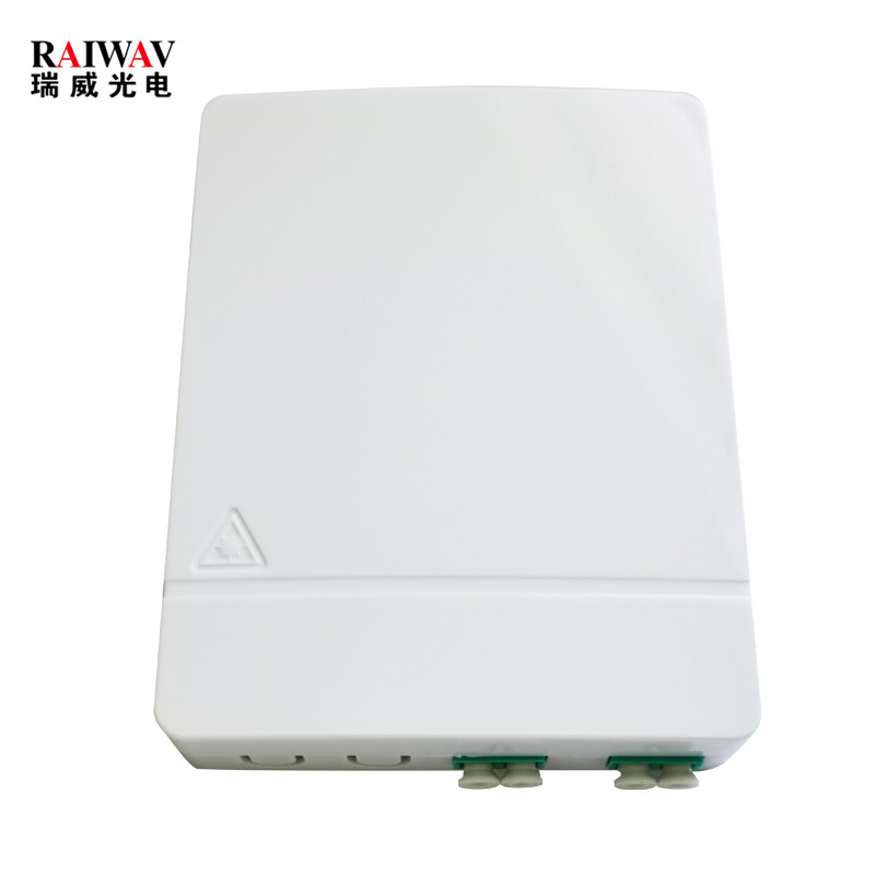 Dual Port 2 Output Fiber Optic Wall Mounted FTTH Faceplate