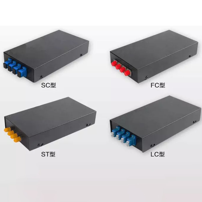 4 Port SC Metal Optic Fiber Terminal Box